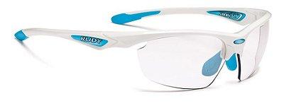 Óculos Rudy Project Stratofly Sx Lentes Fotocromática Branco Azul