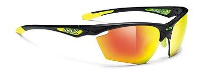 Óculos Rudy Project Stratofly Preto Lentes Amarelo Espelhada