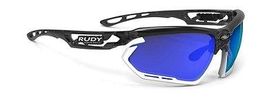 Óculos Ciclismo Rudy Project Fotonyk Cinza Branco Azul