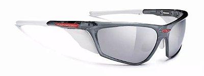 Óculos Rudy Project Zyon Cinza Branco Espelhado