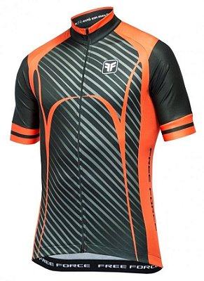 Camisa Free Force Scar Preta Ciclismo