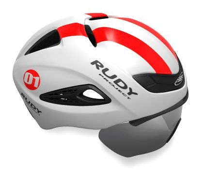 Capacete Rudy Project Boost 01 Branco Vermelho Fluor