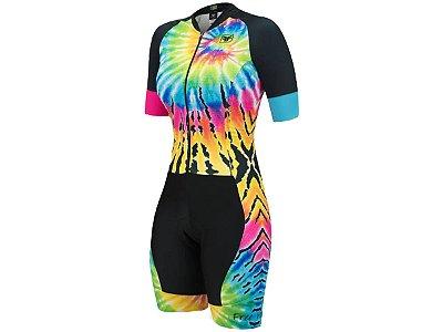 Macaquinho Ciclismo Feminino Free Force Tiedye Multicolor