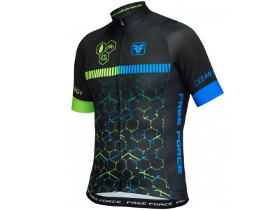 Camisa Ciclismo Free Force Clean Energy Preta Masculina