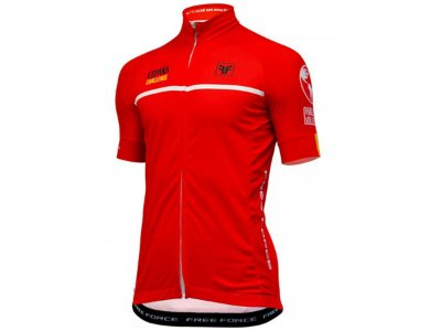 Camisa Ciclismo Free Force Vuelta Vermelha Masculina