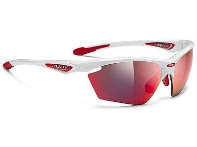Óculos Rudy Project Stratofly Branco Vermelho Espelhado