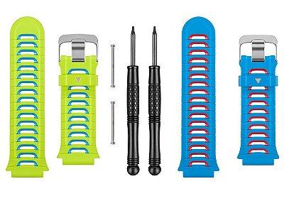 Kit 2 Pulseiras Garmin Forerunner 920xt Original Azul Verde