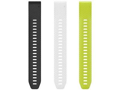 Kit Pulseira Garmin Fenix 5s/5sPlus/6s, Silicone Somente Lado Regulagem Original