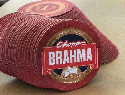 Bolacha de Chopp BRAHMA - Duram até 5 x Mais Confira Cx 2.000 Peças