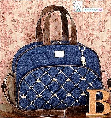 Bolsa Maternidade Classic Jeans Tamanhos P/M - Azul