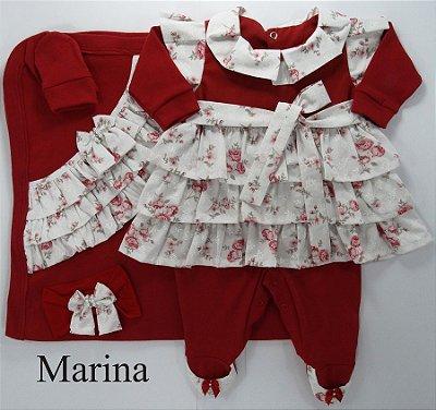 Saída Maternidade Marina Vermelho