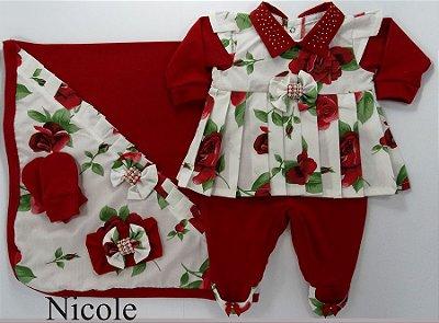 Saída Maternidade Nicole Vermelho