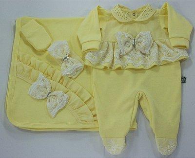 Saída Maternidade Valentina Amarelo
