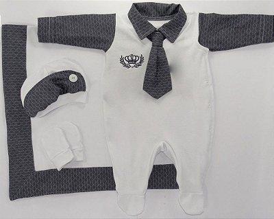 Saída Maternidade Gravata Branco