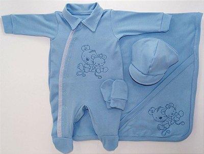 Saída Maternidade Fofinho azul claro