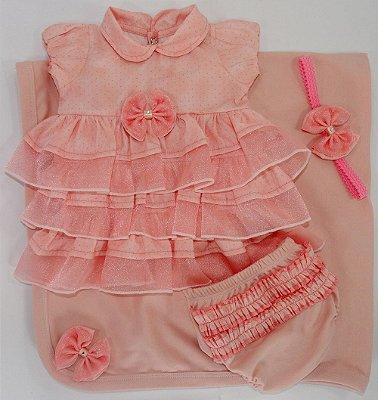 Saída Maternidade Charmosa Rose