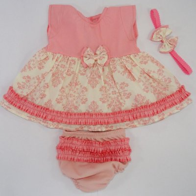 Vestido Menina Moca Rose