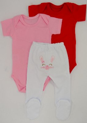 Kit Body Coelhinha Rosa