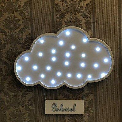 Luminoso nuvem porta maternidade