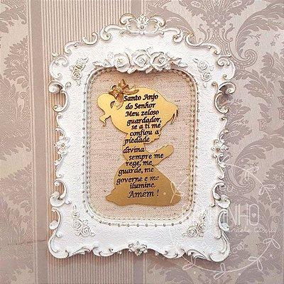 Decoração Quadrinho Santo Anjo (retangular)