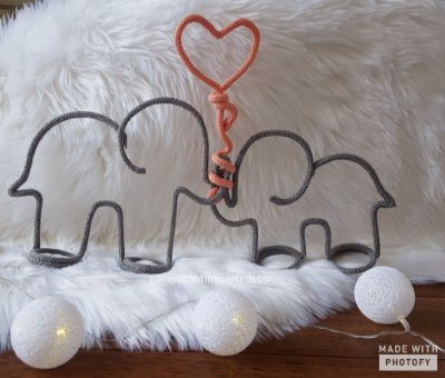 Tricotin Casal de elefantes