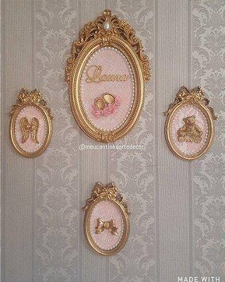 Porta maternidade e quadros decorativos