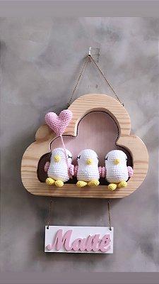 Nuvem porta maternidade passarinho
