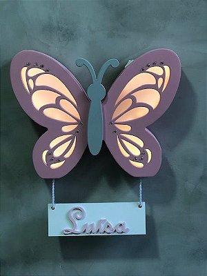 borboleta luminosa porta maternidade