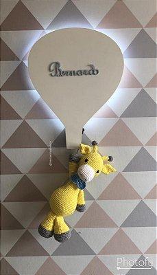 Balão luminoso porta maternidade girafinha