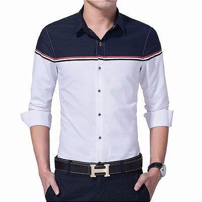 Nova Camisa Slim Fit Vetement Homme
