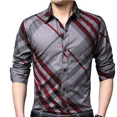 Camisas Sociais Slim Fit Listrada