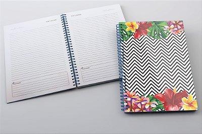 Caderno Chevron Floral