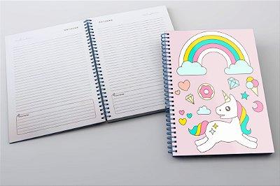Caderno Unicórnio Rosa