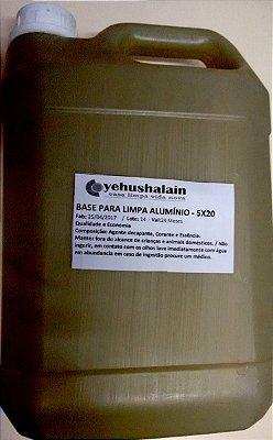 Concentrado p/ Limpa alumínio 5lts. faz 20 lts.