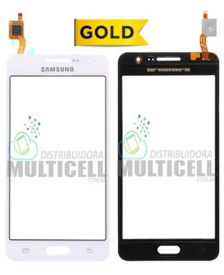 TELA TOUCH SCREEN SAMSUNG G530 G531 GALAXY GRAN PRIME DUOS TV BRANCO 1ªLINHA AAA GOLD