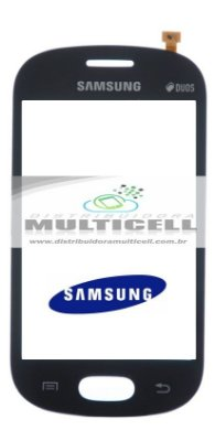 TOUCH SCREEN SAMSUNG S6790/S6792/S6810i GALAXY FAME LITE PRETO ORIGINAL