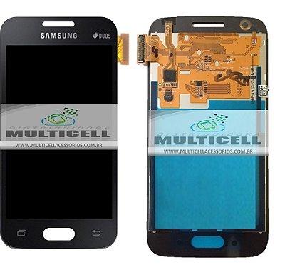 GABINETE FRONTAL LCD SAMSUNG G313 G313H ACE 4 DUOS CINZA PRETO ORIGINAL