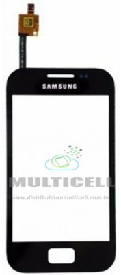 TELA TOUCH SCREEN SAMSUNG S7500 GALAXY ACE PLUS PRETO 1ª LINHA