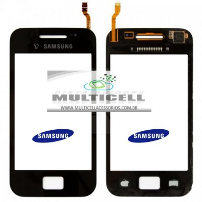 TELA TOUCH SCREEN SAMSUNG S5830i/S5830C GALAXY ACE PRETO ORIGINAL (GH59-11779A)