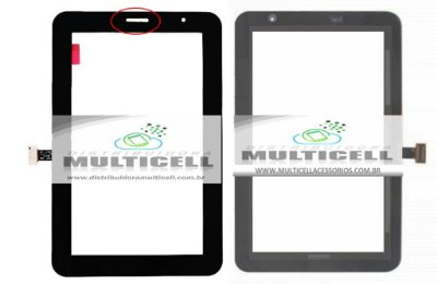 TELA TOUCH SCREEN SAMSUNG P3100 GALAXY TAB 2 PRETO ORIGINAL