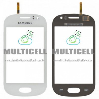 TELA TOUCH SCREEN SAMSUNG S6812 GALAXY FAME BRANCO ORIGINAL (GH59-13293A)