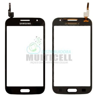 TELA TOUCH SCREEN SAMSUNG I8552 GALAXY WIN DUOS PRETO CINZA ORIGINAL