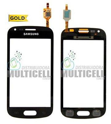 TELA TOUCH SCREEN SAMSUNG S7560 S7562 GALAXY S DUOS PRETO 1ªLINHA AAA GOLD