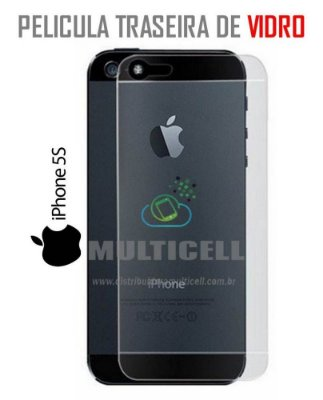 PELICULA TRASEIRA  DE VIDRO APPLE IPHONE 5/5S