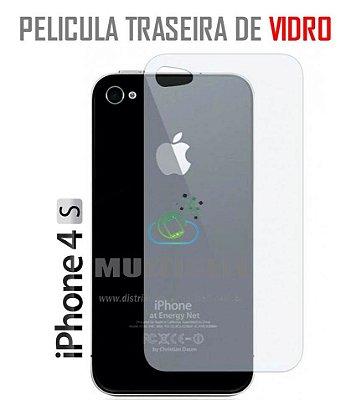 PELICULA TRASEIRA DE VIDRO APPLE IPHONE 4 4S (SEM EMBALAGEM)