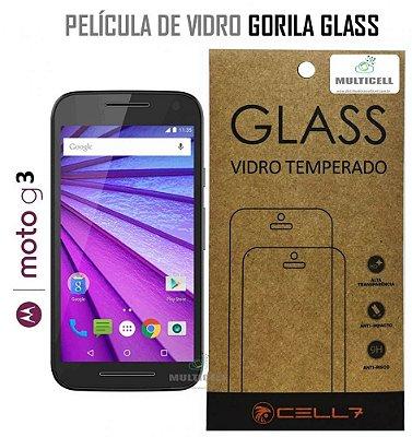 PELICULA DE VIDRO DIAMANT MOTOROLA XT1543 MOTO G 3ª GERAÇÃO GORILA GLASS