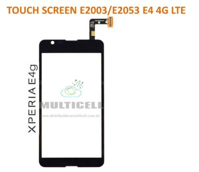 TELA TOUCH SCREEN SONY E2003/E2053 XPERIA E4 4G LTE PRETO ORIGINAL