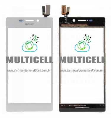 TELA TOUCH SCREEN SONY D2302/D2303/D2304/D2305/D2306 S50H XPERIA M2 BRANCO ORIGINAL