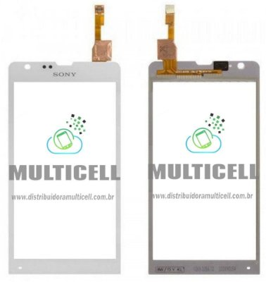 TELA TOUCH SCREEN SONY ERICSSON C5302/C5303/M35i  XPERIA SP BRANCO 1ªLINHA