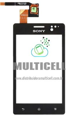TELA TOUCH SCREEN SONY XPERIA GO ST27/ST27I PRETO ORIGINAL